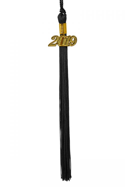 black tassel 4digit gold
